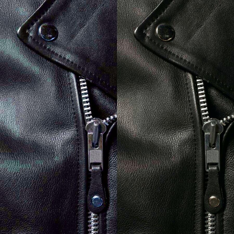 Laundry jaket kulit